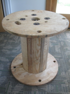 Wooden electrical spool